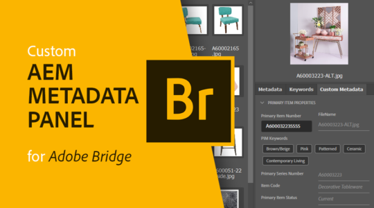 Custom AEM Metadata Panel for adobe Bridge